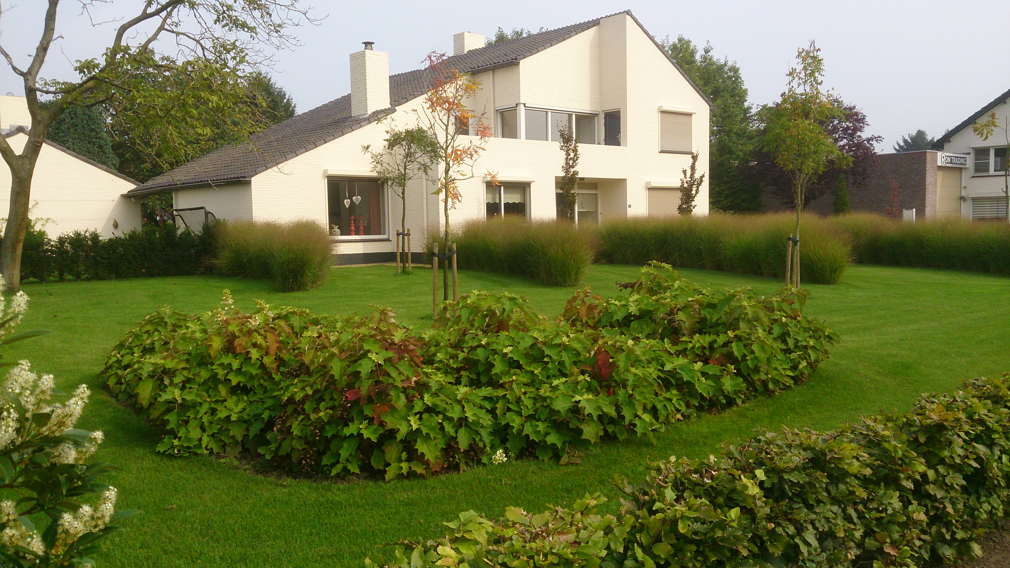 De mildert tuinen website voortuin met grote groepen for Strakke tuinen met siergrassen